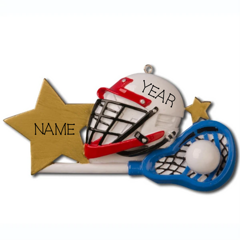 Lacrosse Personalized Ornament