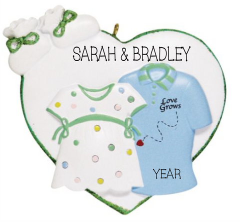 Expecting couple ornament/Love Grows