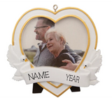 Memorial Heart Photo Frame Personalized Christmas Ornament