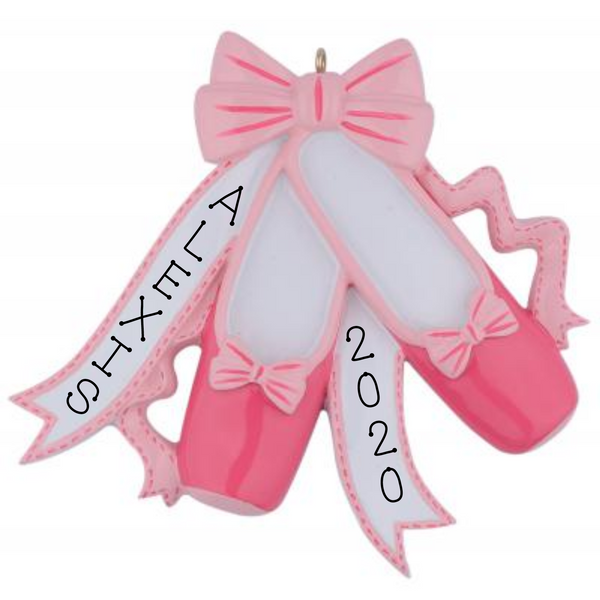 Dance, Ballet Shoes- Personalized Ornament