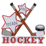 Hockey with Stars- Personalized Ornament