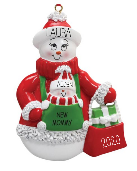 New Mom- Personalized Ornament