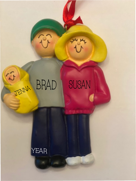 New Parents-Personalized Ornament