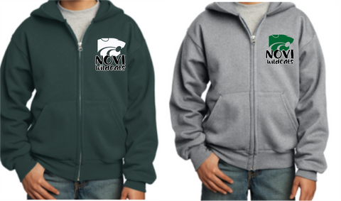 Novi Wildcats - Full Zip sweatshirt