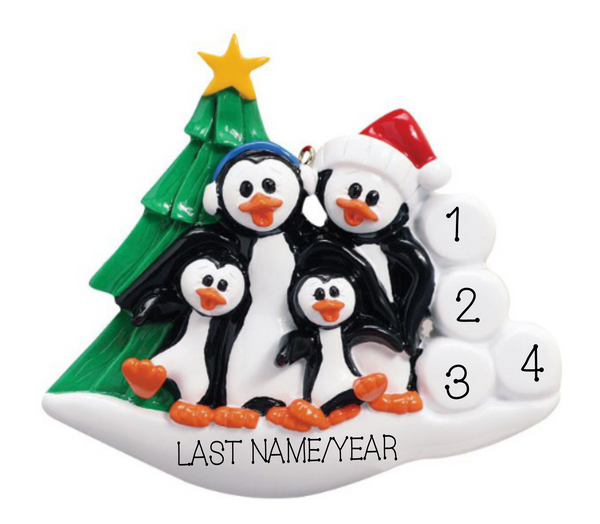 Penguin Family - Family of 4