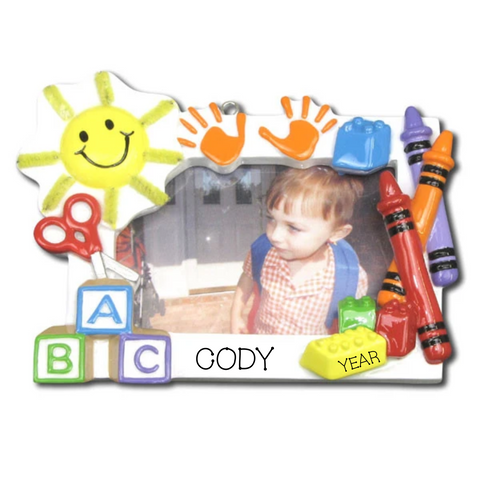 Preschool frame ornament