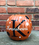 "Personalized 9"" Pumpkin"