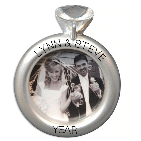 Wedding Ring Frame Ornament