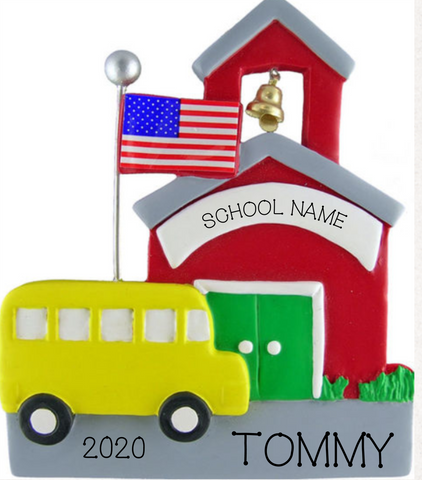 Schoolhouse- Personalized Ornament
