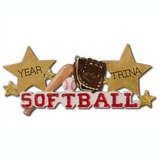 Softball Star- Personalized Christmas Ornament