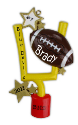 Football Goal- Personalized Ornament