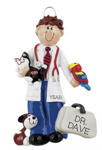 Male Veterinarian- Personalized Ornament