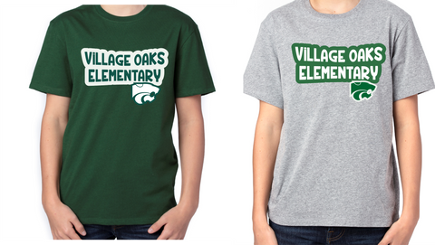 Village Oaks, Option 3 Poly/Cotton T-shirt, Youth