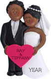 Wedding Couple Ornament-Dark Skin
