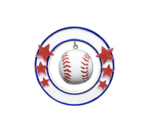 Baseball 3D Personalized Christmas Ornament