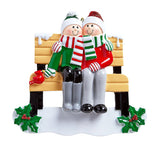 Park Bench- Family of 2 Personalized Ornament