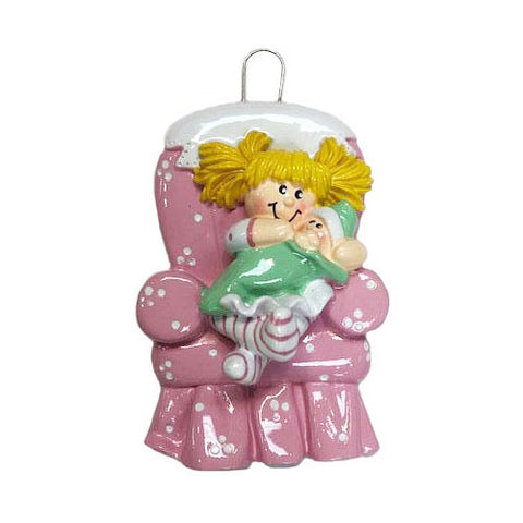 Big Sister Blonde Hair- Personalized Christmas Ornament