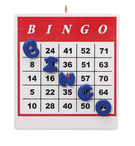 BINGO card- Personalized Christmas Ornament