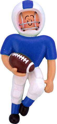 Football Player Blue Uniform- Personalized Ornament
