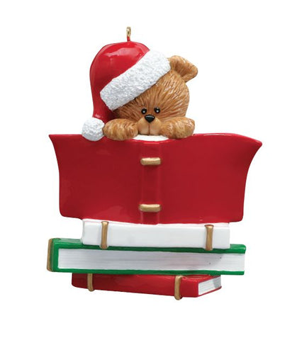Book Club/ Reader Personalized Christmas Ornament