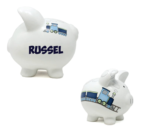Boxcar Train Themed Piggy Bank