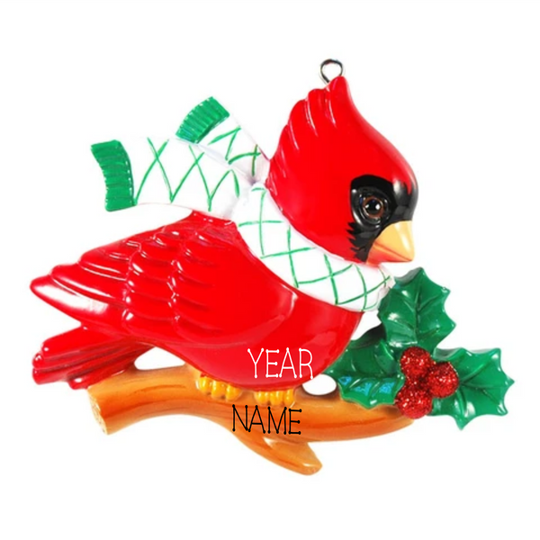 Cardinal - Personalized Christmas Ornament