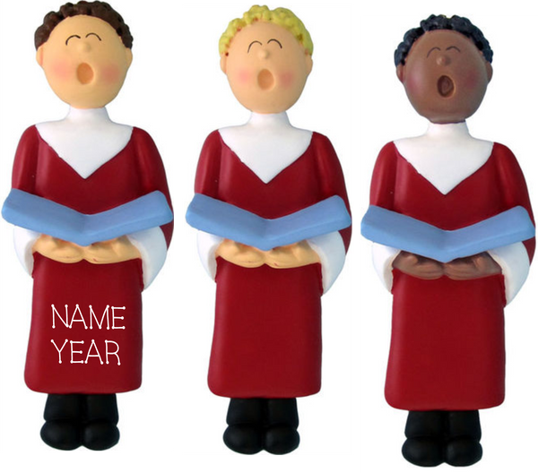 Choir Singer Male- Personalized Christmas Ornament
