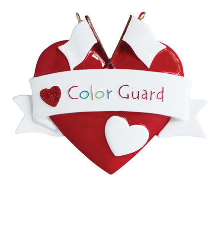 Color Guard- Personalized Christmas Ornament