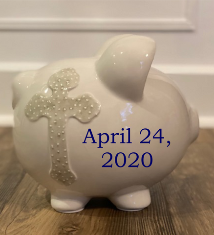 Personalized Faith Themed Piggy Bank