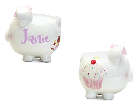 Cupcake Themed Piggy Bank