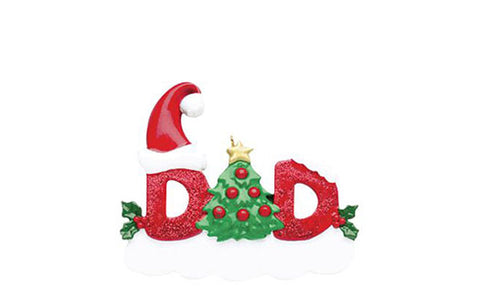 Dad, Sparkle Series- Personalized Ornament