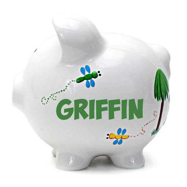 Personalized Dinosaur Themed Piggy Bank