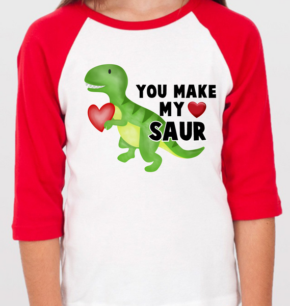 Dinosaur Raglan, Toddler, Kid