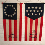 Personalized Burlap/Jute Door Flag