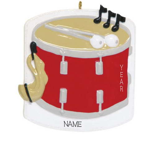 Drum- Personalized Christmas Ornament