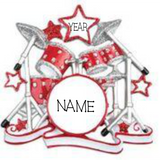 Drum Set- Personalized Christmas Ornament