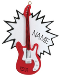 Electric Guitar- Personalized Christmas Ornament