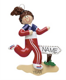 Female Jogger- Personalized Christmas Ornament