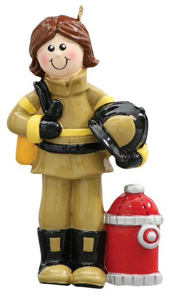 Firefighter, Female- Personalized Ornament