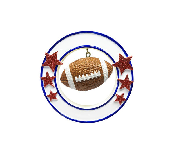 Football 3D- personalized ornament