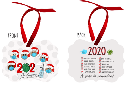 Metal Sublimated 2020 Pandemic Ornament