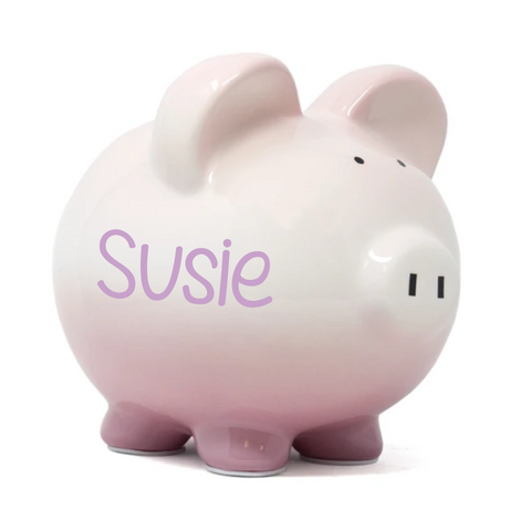 Girlsenberry Pink Ombre Piggy Bank