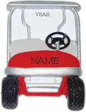 Golf Cart- Personalized Christmas Ornament