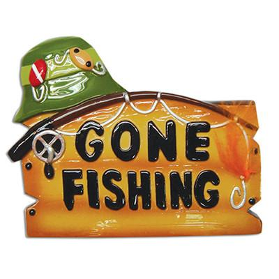Fishing, Gone Fishing- Personalized Christmas Ornament