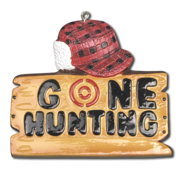 Hunting, Gone Hunting- Personalized Christmas Ornament