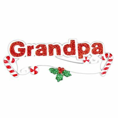 Grandpa, Sparkle Ornament