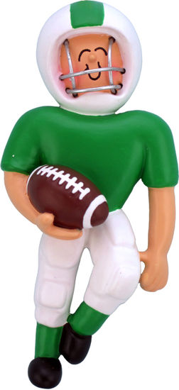 Football Player Green Uniform- Personalized Ornament