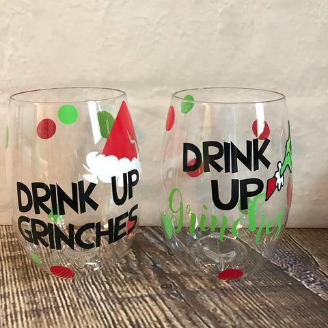 Grinch Themed Shatterproof Govinos (set of 2)