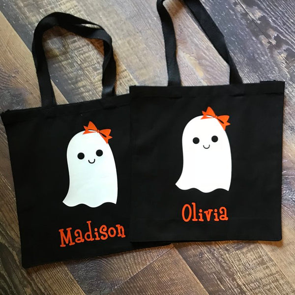 Personalized Halloween Totes- Ghost