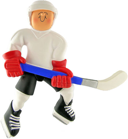 Hockey Player, Male -Personalized Ornament